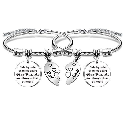 Imagen de yonghui  pulsera ajustable de serpiente para mujer y niña, 2 unidades, diseño con texto en inglés