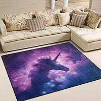 Naanle Fantasy Unicorn Non Slip Area Rug for Living Dinning Room Bedroom Kitchen, 120 x 160 cm(4