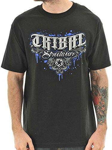 T-Shirt Tribal Streetwear Streetwear M5 Drips Nero (S , Nero)