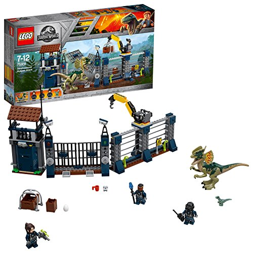 LEGO Jurassic World Attack of the Dilophosaurus 75931 Game Dinosaurs