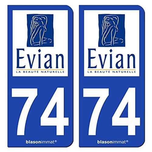 2-autocollants-de-plaque-dimmatriculation-auto-74500-evian-les-bains-ville