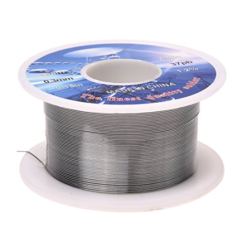 SODIAL(R) Solide 0.3mm Dmr. 63% Zinn 37% Blei lange Loetdraht-Spule