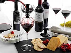 WineWeaver - Ultimate Glass & Decanter Wine Funnel Aerator [Black Velvet]