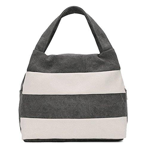 bags Tragbare Wiederverwendbare Isolierte Mittagessen Tote Organizer Cooler Bento Tasche Für Die Arbeit, Reisen,Gray,Lager ()