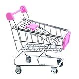 URIJK Mini Einkaufswagen zur Deko und Aufbewahrung Metall Handwerk Modell Kinder Spielzeug Warenkorb Tischorganizer