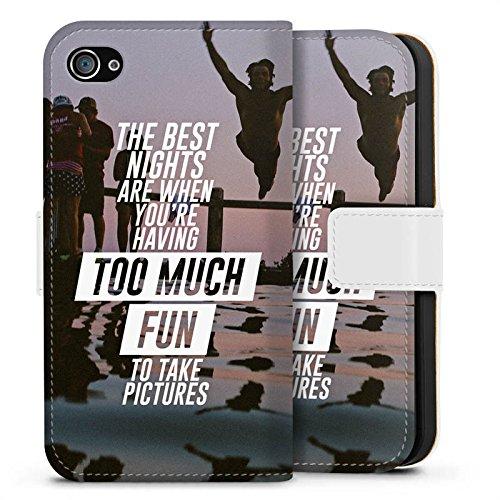 Apple iPhone X Silikon Hülle Case Schutzhülle Sprüche Spaß Feiern Sideflip Tasche weiß