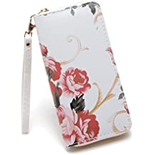 Clearance JYC 2018 Ladies Women's Stone Road Wallet Coin Bag Purse Phone Bag Long Zip Round Wallet Ladies Fashion RFID Security Card Holder Purse on Sale