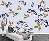 Fototapete 3D 430cmX300cm Tapete Fototapeten Wandbild Vliestapete Wandtapete Moderne Wand Schlafzimmer Wohnzimmer Wanddeko XXL Moderne Hand Gezeichnete Obstpflanze Wallpaper