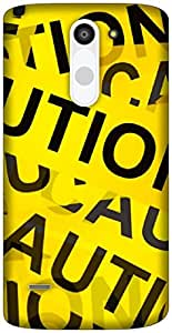 The Racoon Lean CAUTION hard plastic printed back case / cover for LG G3 Stylus