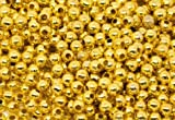 SiAura Material 500 Stück Metallperlen 4mm mit 1,7mm Loch, Rund, Goldfarben zum Basteln