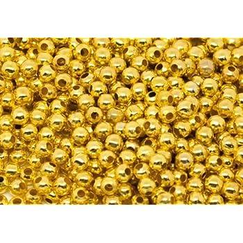 Perles de Verre Ø 4 mm Gold Metallic 50 pièces