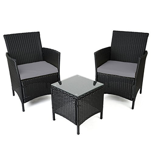 Patio rattan wicker table chairs for sale in uk for Wicker outdoor furniture sale