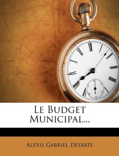 Le Budget Municipal...