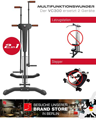 2in1 Stepper & Vertical Climber Fitness - Klettern - Kletterbewegungen, klappbar, multifunktional Abbildung 2