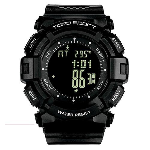 Männer'S wasserdichte multifunktionale outdoor digital sport uhr, Berg Schwimmen Höhen luft druck aufzeichnung Temperatur Calorieselectronic armbanduhr -A