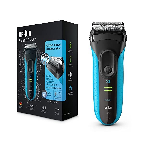 Braun Series 3 ProSkin 3010s Electric Shaver, Rechargeable and Cordless Wet and Dry Electric Razor for Men 51yZHXCyaOL