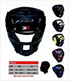 3X_Professional_Choice Grill Head Guard Maya Nascondere Boxe in pelle MMA Protector Copricapo UFC Fighting Casco integrale Face Sparring Helmet