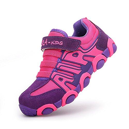 SITAILE Kinderschuhe Outdoor Sport Sneaker Wander Schuhe Turnschuhe für Kinder Jungen Mädchen ,Rosa,eu 28 (Athletic Schuhe Strap)
