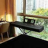Clairevoire digitales Klavier Abdeckung für Yamaha DGX 650/660 [Ebenholzschwarz]