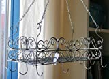 nostalgische Kräuterkrone Küchenkrone aus Metall in antikgrau