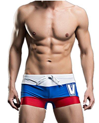 WLITTLE Herren Badehose Wassersport Strandhosen Badehose Schwimmhose sportlich und bequem, ideal zum Schwimmen und Baden