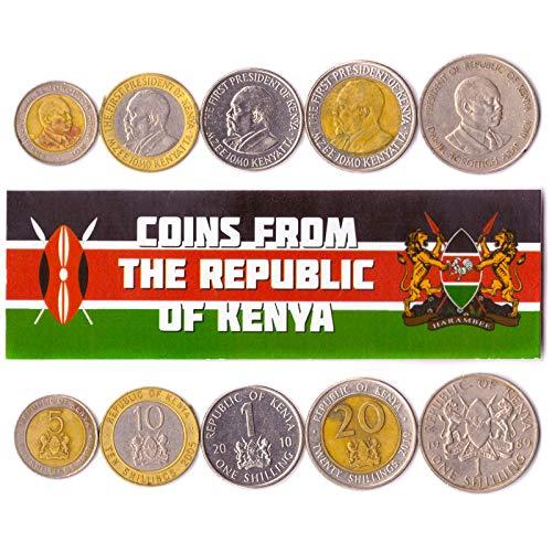 Hobby of Kings - Verschiedene Münzen - alte, sammelbare kenianische Devisen zum Sammeln -