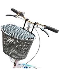 Cesta de bicicleta delantera colgante con gancho para montar