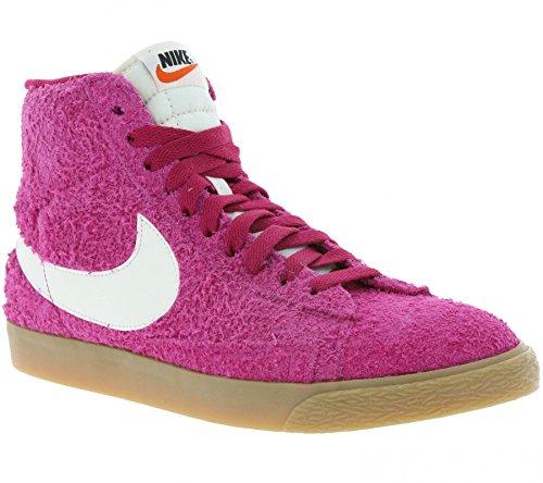 NIKE WMNS Blazer Mid Suede Vintage Schuhe Damen Echtleder-Sneaker Mid Top Pink 518171 614, Größenauswahl:40 (Nike Blazer Frauen Schuhe)