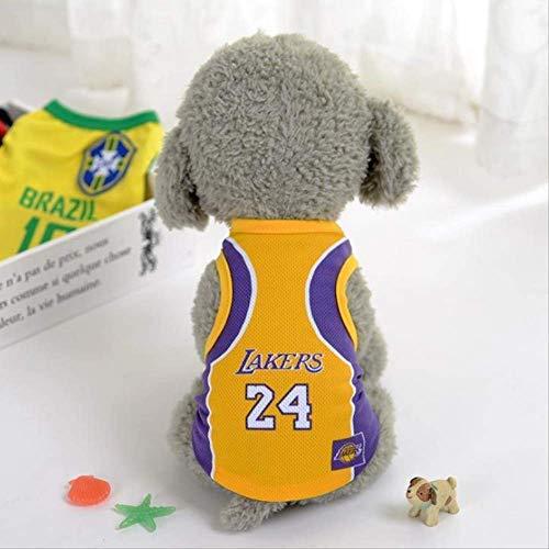 Hemio Kleidung Jumpsuit Pet Jersey Football Licensed Dog Jersey, Dog Clothes Football T-Shirt Dogs Kostüm National Soccer World Cup, Outdoor Sportswear Muster Cute (Cup Kostüm Muster)
