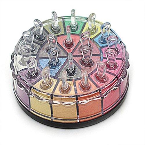 LONUPAZZ 20 Couleurs Shimmer Palette Fard à Paupières Pailleté Glitter Eyeshadow Palette Poudre Shimmer Kit Maquillage Professionnel Yeux (A)