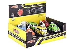 GLOBO- Cast 4X4 Friction Car 4Asstd 6 Piezas D/Box (37807), (1)