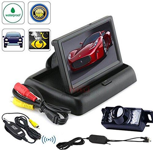 BW hochwertige 10,92 cm TFT LCD Auto Monitor Rückspiegel faltbarer Armaturenbrett + Rückfahrkamera Funk wasserdicht