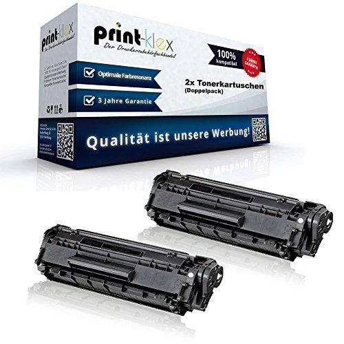 Print-Klex 2x Alternative Tonerkartuschen für HP LaserJet P 1005 LaserJet P 1006 LaserJet P 1007 LaserJet P 1008 CB435 CB 435 HP 35 A HP 35A Black XXL - Toner Line Serie -