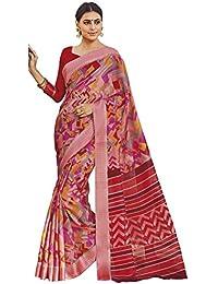 EthnicJunction Kora Silk Saree (Ej1185-2547_Pink_Free Size)