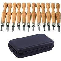 Polly Online Super Sharp y Stronger Cuchillas de actualización de Herramientas de Tallado de artesanías Juego de Cuchillas de Grabar en Madera Set de Tallado SK7 de Acero al Carbono