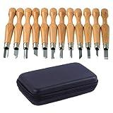 Utensili di taglio artigianale super-forti e forti Set di coltelli in legno Carving Set Acciaio al carbonio SK7 di alta qualità