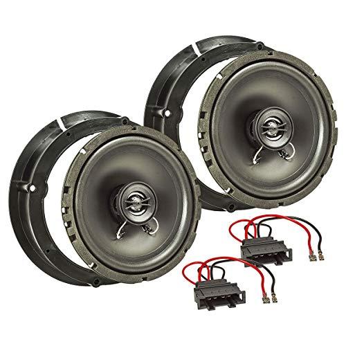 tomzz Audio ® 4057-000 Lautsprecher Einbau-Set für Seat Leon Toledo Altea Skoda Fabia Yeti Audi A2 Tür Vorne Hinten Seitenteil Heck 165mm