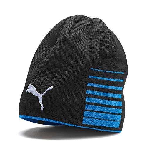 PUMA Erwachsene Liga Reversible Beanie Mütze, Electric Blue Lemonade Black, OSFA Reversible Beanie Damen