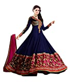 Silkone Women's Georgette Semi Stitched Anarkali Suit