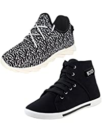 Bersache Men Combo Packs Of 2 Casual Sneakers With Sports Shoe
