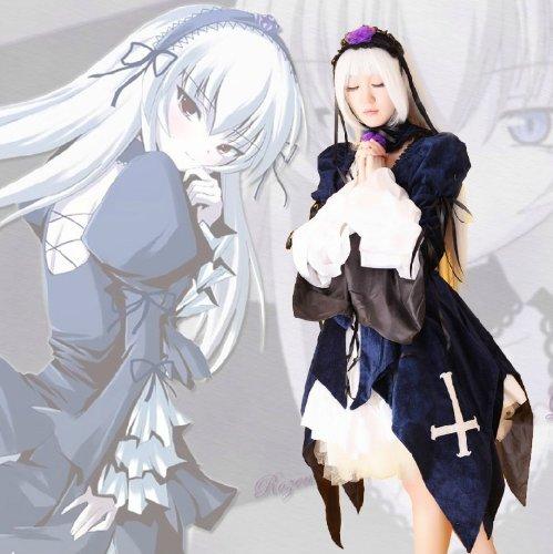 Rozen Maiden Suigintou Cosplay Kostüme Brauch(Mailen Sie uns Ihre Größe),Größe XXL:175-180 (Kostüm Suigintou)