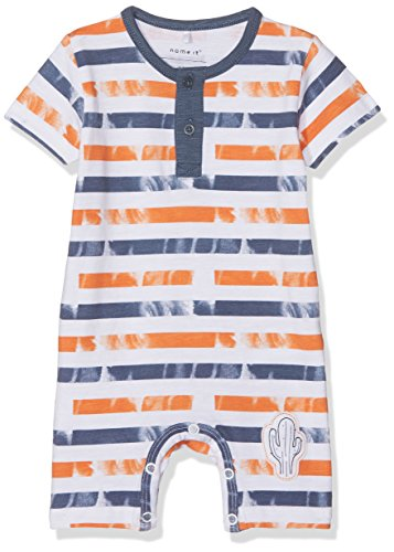 NAME IT Baby-Jungen Strampler Nbmdeston SS Sunsuit, Mehrfarbig (Vintage Indigo), 80