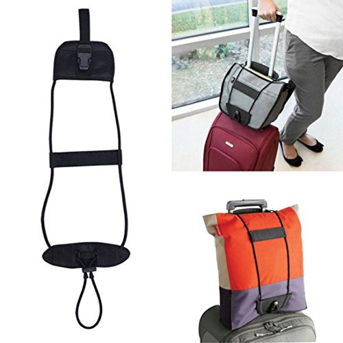 Ouneed Luggage Belt , Travel Luggage Suitcase Adjustable Belt Add A Bag Strap Carry On Bungee Travel (Carry On Travel Bag)