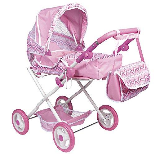 ColorBaby - Carrito de paseo con bolsa, color rosa (43103)
