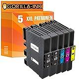Gorilla-Ink® 5 Gel-Patronen XXL kompatibel für Ricoh GC-41 Aficio SG 3110 DN SG 3110 N SG 3110 SFNW SG 3120 B SF SG 3120 B SFN SG 3120 B SFNW SG 7100 DN
