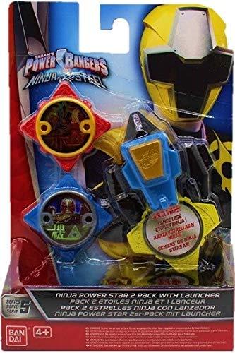 Power Ranger Star 2er-Pack Ninja Steel mit Launcher, für Kinder, Jungen und Mädchen zum Spielen