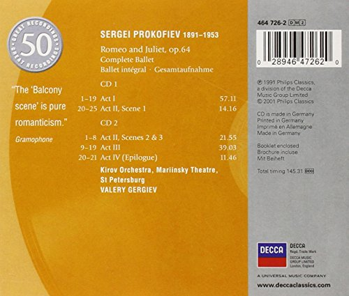 Buy Prokofiev Romeo Juliet On Amazon Paisawapas Com