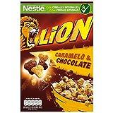 Cereales Nestlé Lion - Cereales de trigo y arroz tostados con crema de caramelo y chocolate - 16 paquetes de 675g