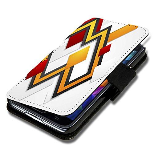 Book Style Flip Handy Tasche Case Schutz Hülle Schale Motiv Etui für Wiko Ridge Fab 4G - Flip 1A49 Design3