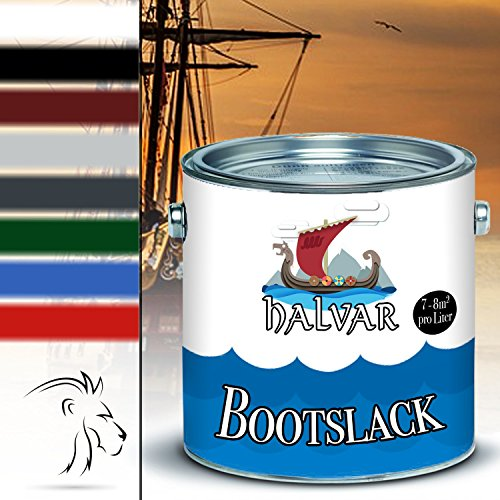 Halvar Bootslack Yachtlack Bootsfarbe Yachtfarbe PU-verstärkt für Holz verstärkt, extrem belastbar und hochelastisch Schiffslackierung (5 L, Farblos)